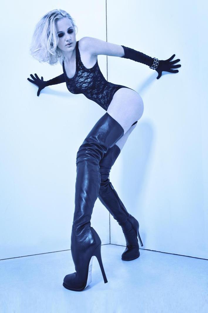 Arollo Leather Heeled Boots Arollo-queen-overknee-stiefel-1
