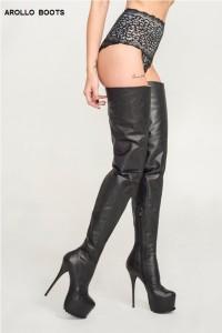 Arollo thigh high boots - crotch style 2015