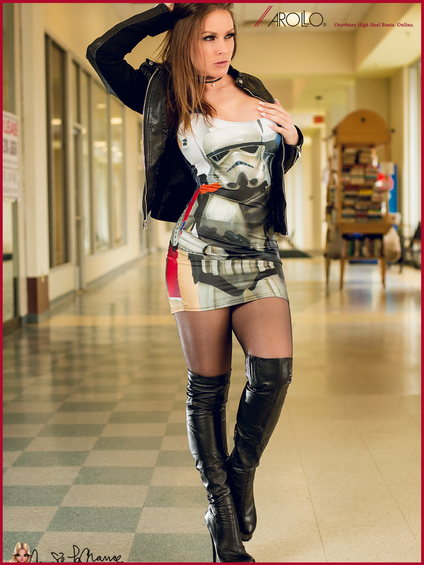 Carrie Lachance in AROLLO Overknee Boots ANNA3 Special Edition