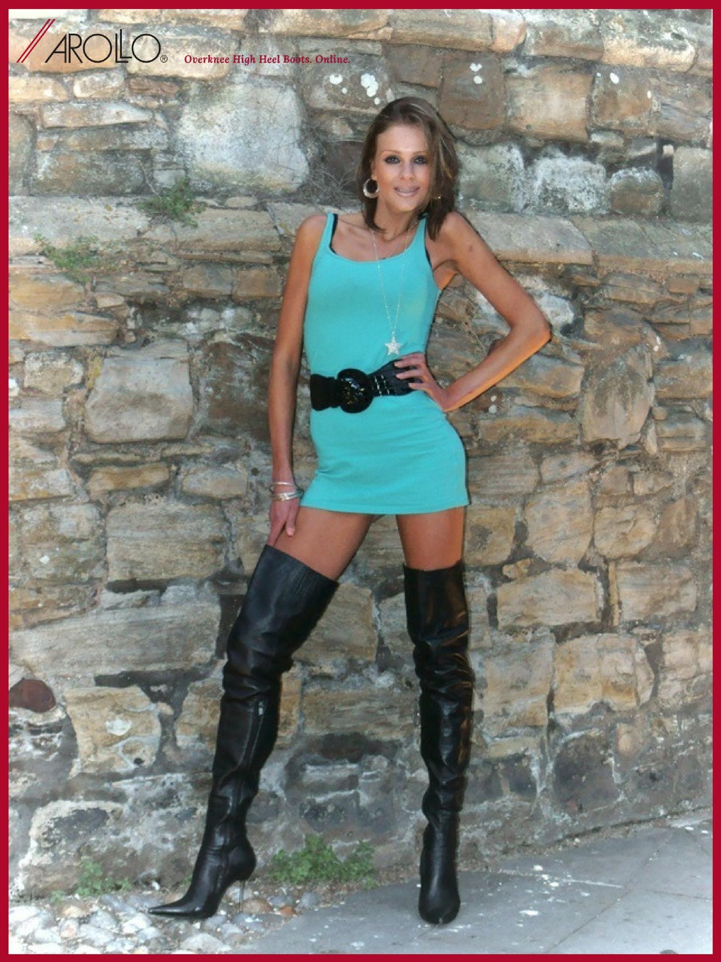 AROLLO Thigh High Boots Stiletto Roma