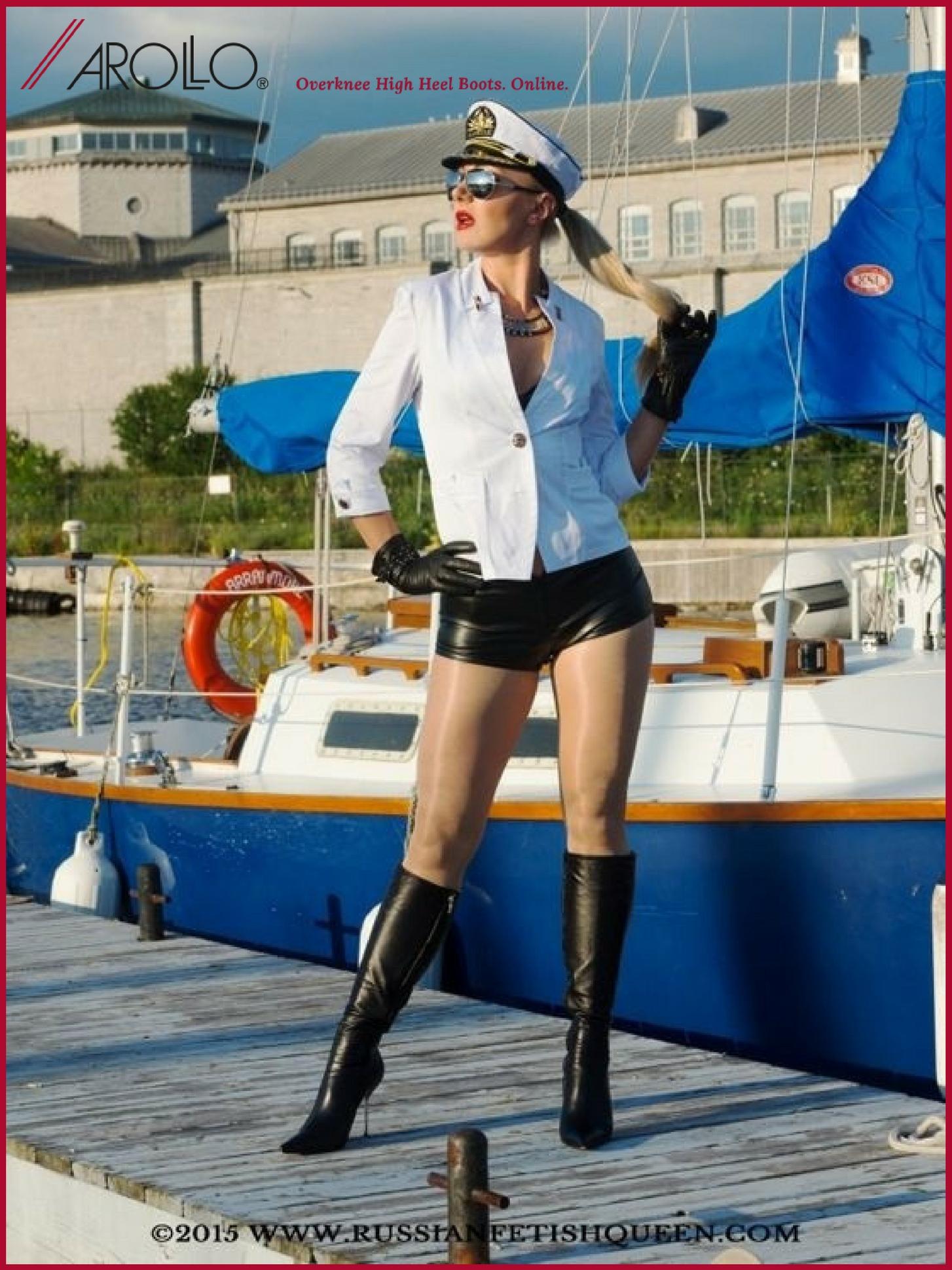 AROLLO Knee High Boots Stiletto Roma