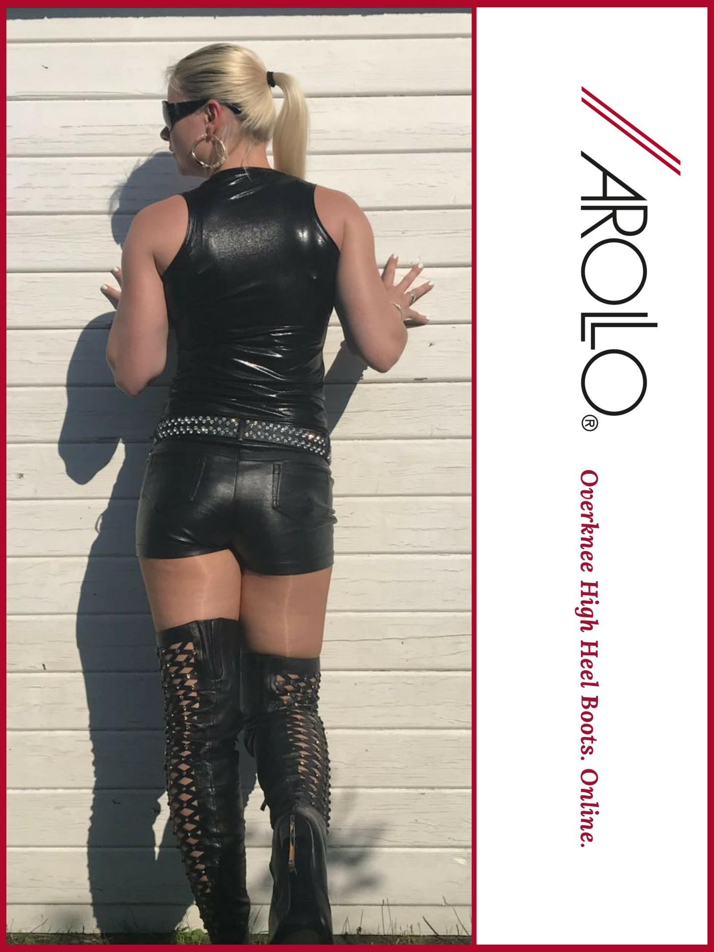 AROLLO Thigh High Boots Lady Vanessa I