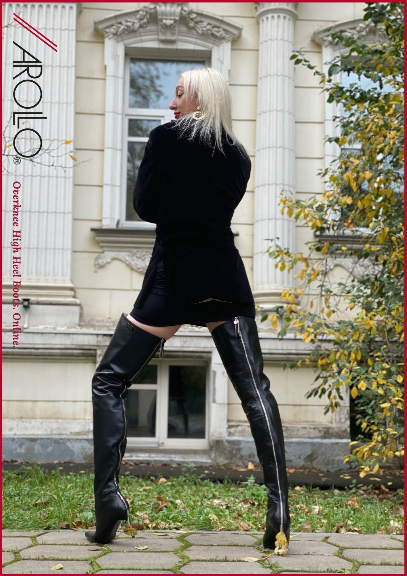 Full length zipper boots